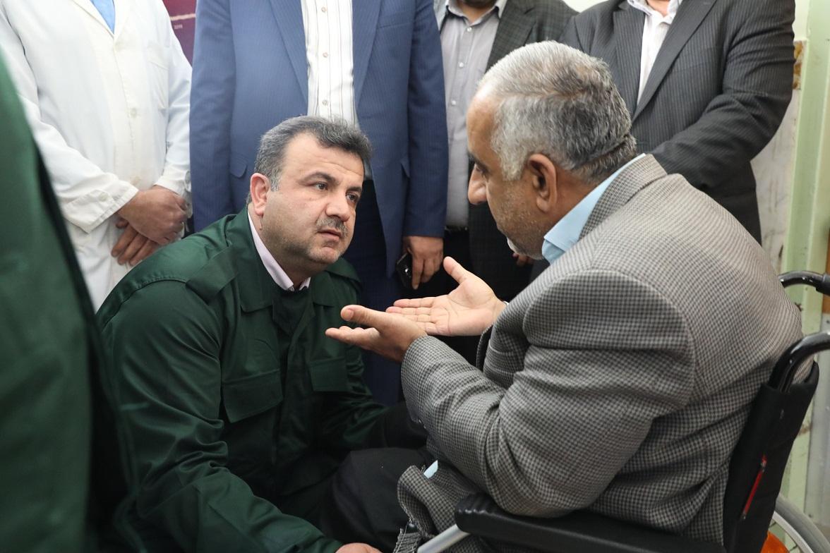 دیدار استاندار مازندران با جانبازان