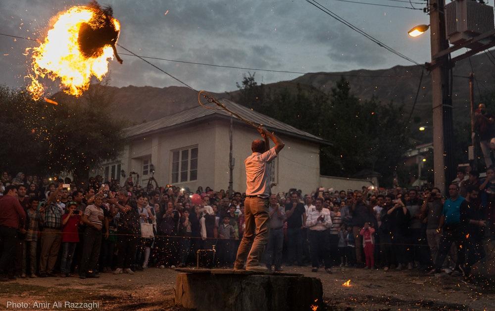 تصاویر /  نور گوهون؛ جشن اساطیری پیروزی فریدون و کاوه آهنگر بر ضحاک