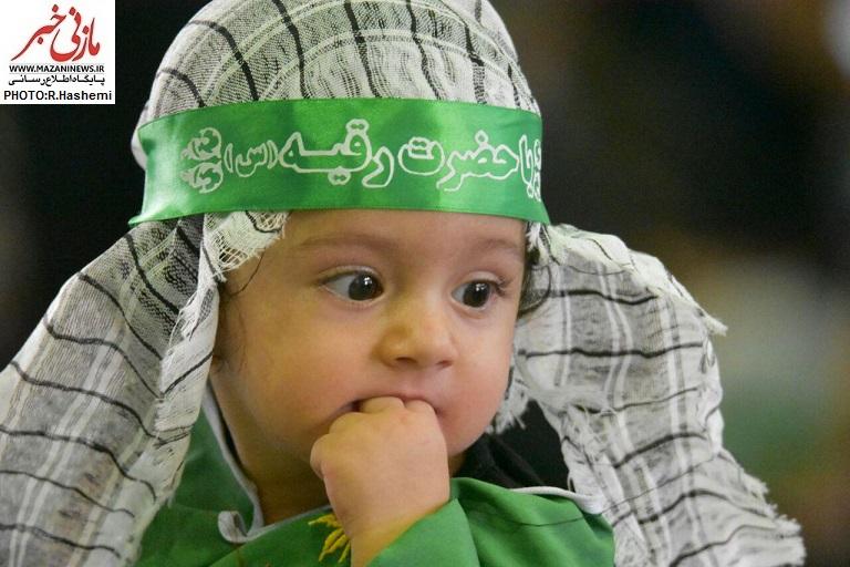 تصاویر / مراسم شیرخوارگان حسینی در حسینیه ثارالله قائمشهر