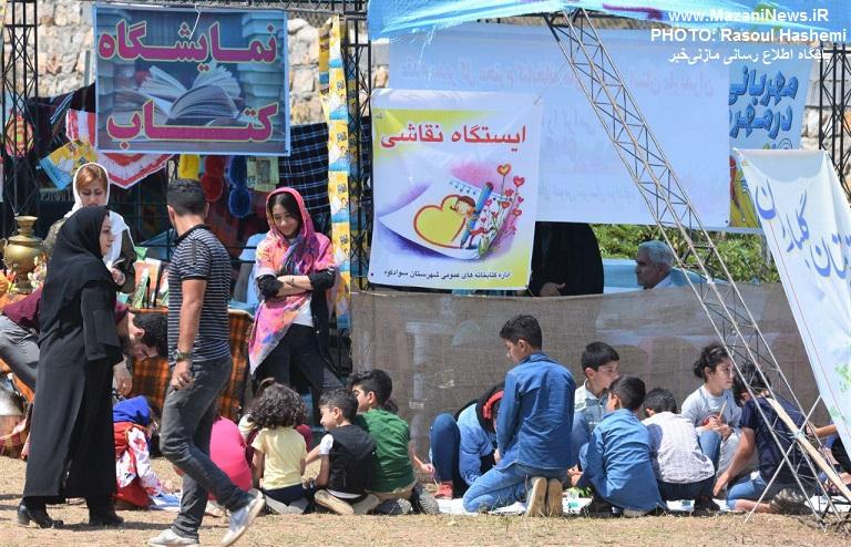 حضور پررنگ اداره کل کتابخانه های عمومی مازندران در جشنواره بومی محلی روستای لیند